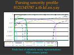parsing sonority profile 8121345787 a tb kf zn ya y