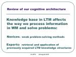 review of our cognitive architecture1