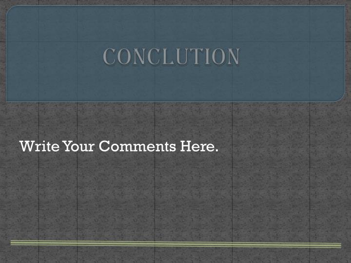 Conclution