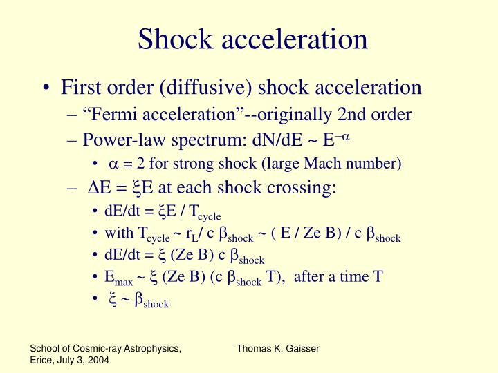 Shock acceleration