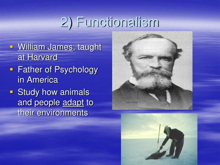 2) Functionalism