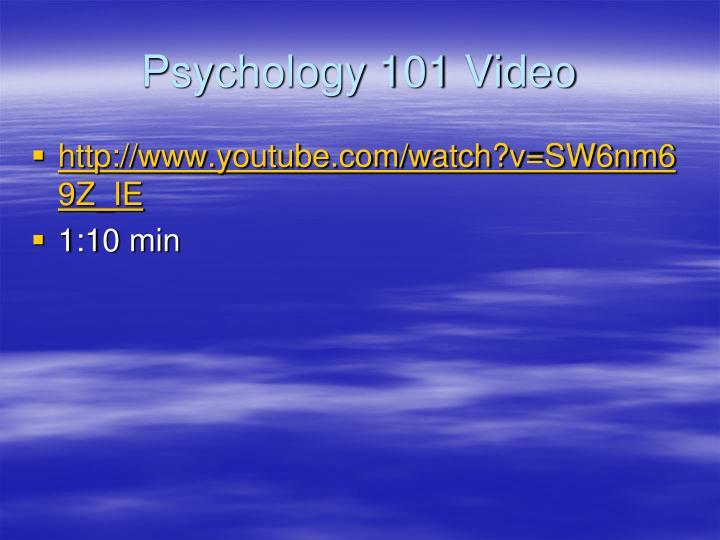 Psychology 101 Video