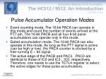 pulse accumulator operation modes
