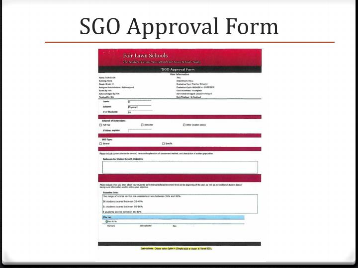 SGO Approval Form