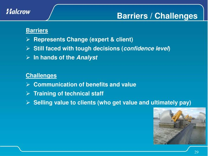 Barriers / Challenges