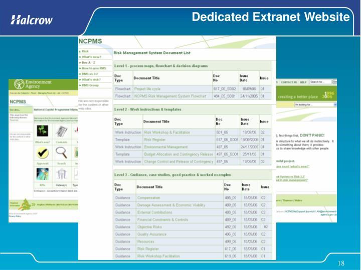 Dedicated Extranet Website