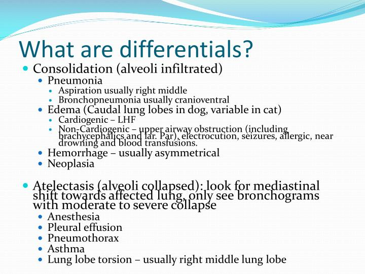 What are differentials?