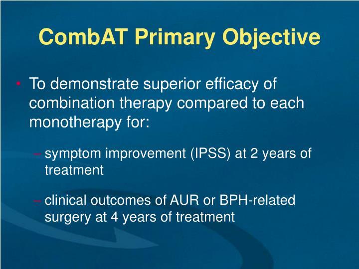 CombAT Primary Objective