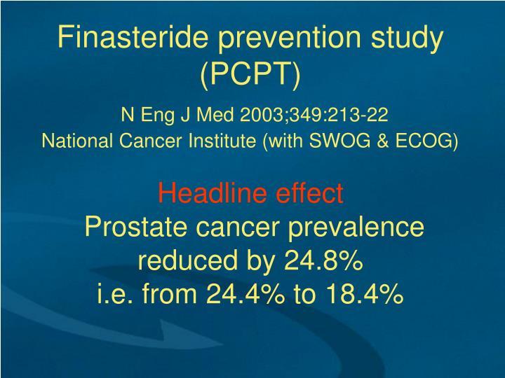 Finasteride prevention study (PCPT)