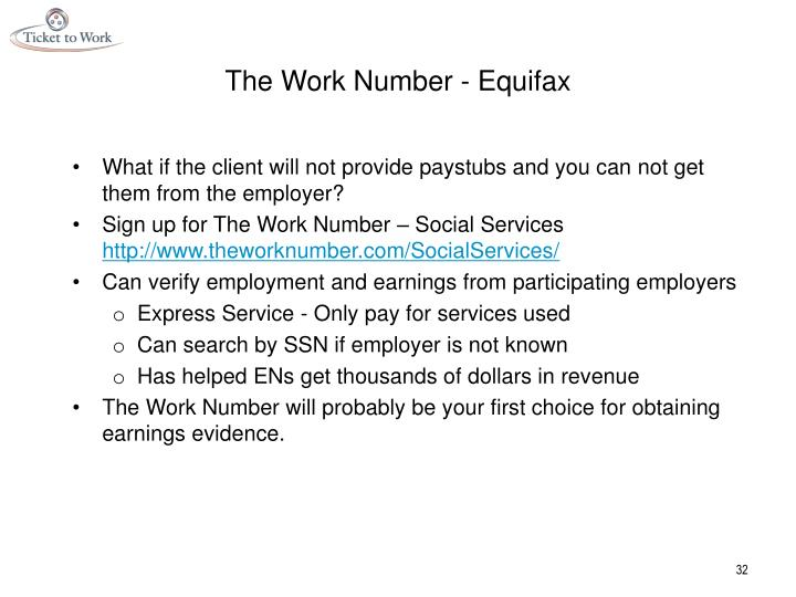The Work Number - Equifax