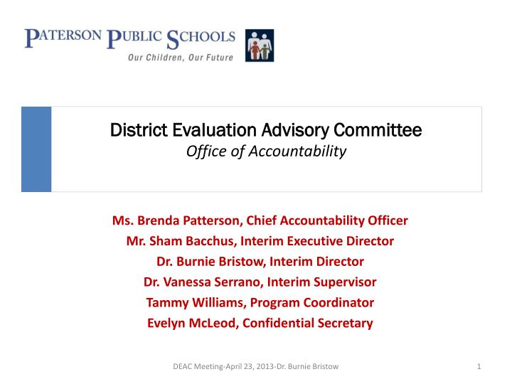district evaluation advisory committee office of accountability n.