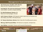 management team and directors