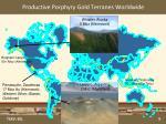 productive porphyry gold terranes worldwide