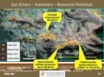 san simon summary resource potential