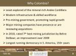 why colombia