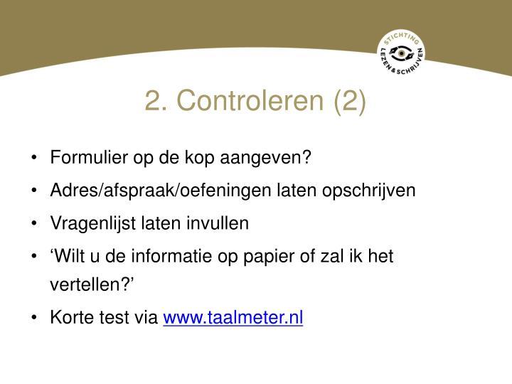 2. Controleren (2)