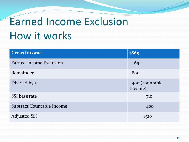 Earned Income Exclusion