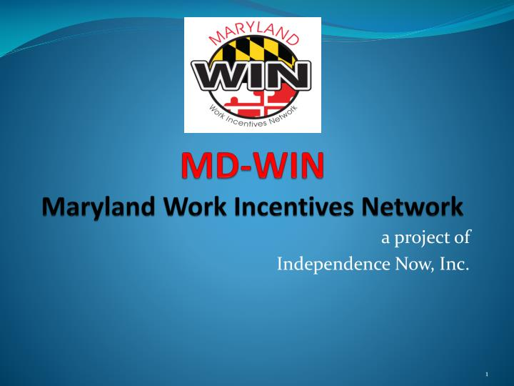 Md win maryland work incentives network