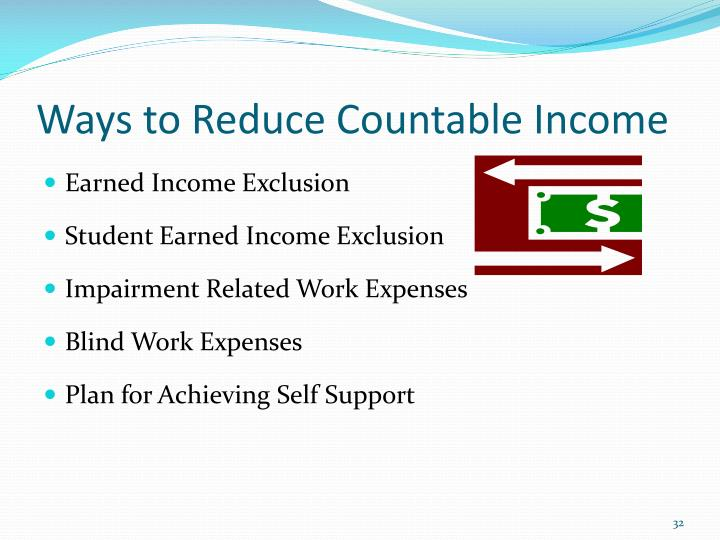 Ways to Reduce Countable Income