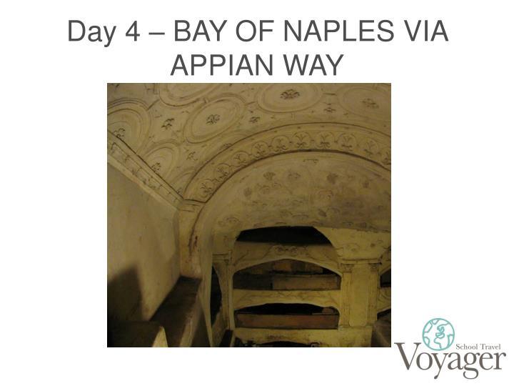 Day 4 – BAY OF NAPLES VIA APPIAN WAY