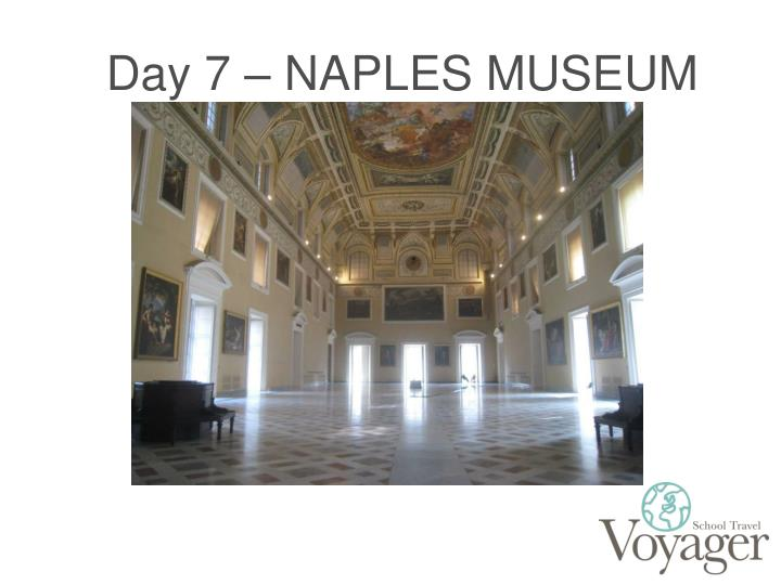 Day 7 – NAPLES MUSEUM