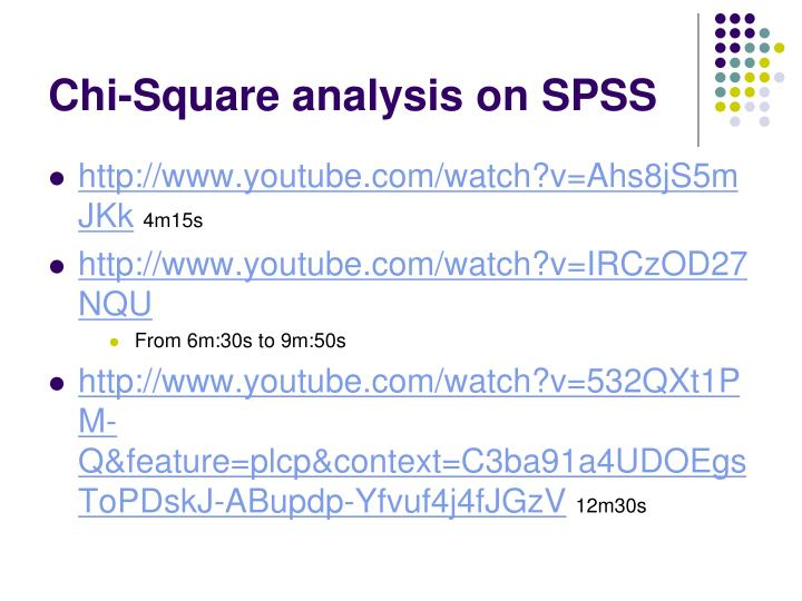 Chi-Square analysis on SPSS