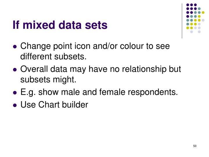 If mixed data sets