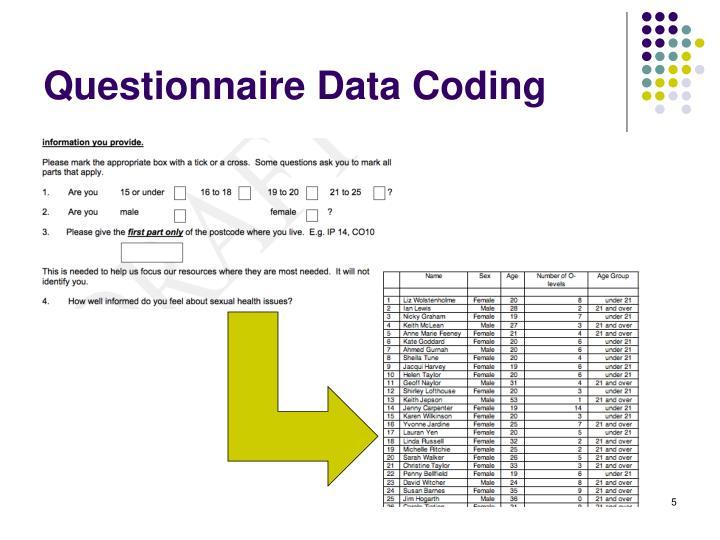 Questionnaire Data Coding