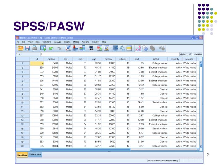 Spss pasw