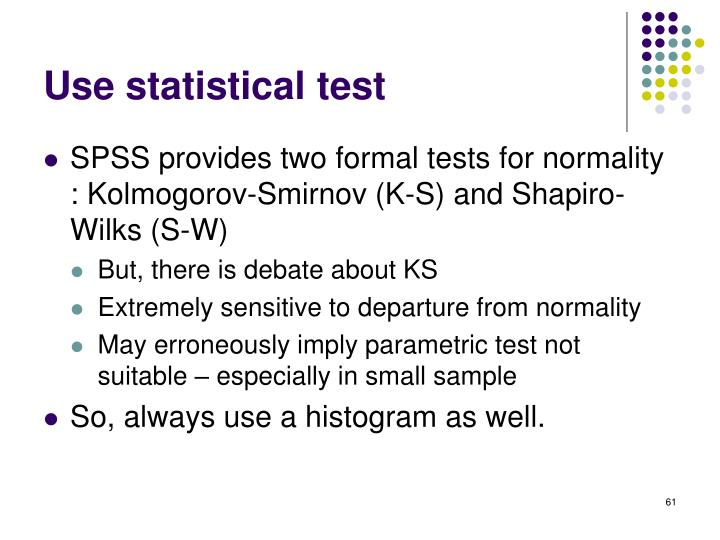 Use statistical test