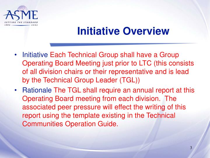 Initiative overview