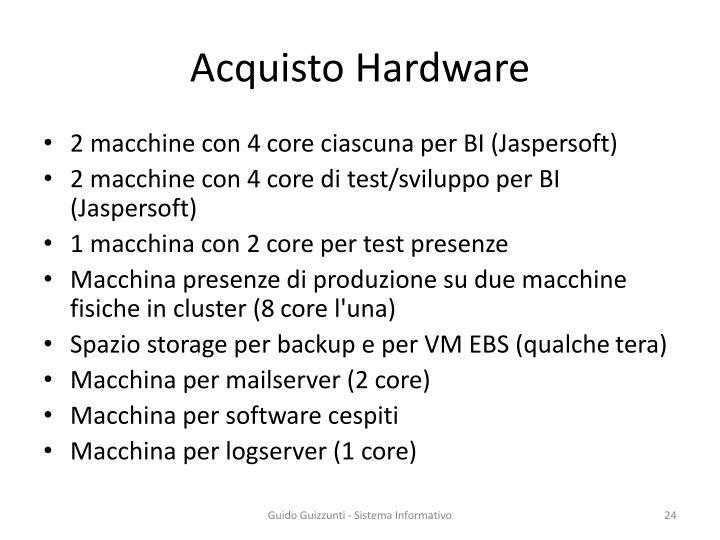 Acquisto Hardware
