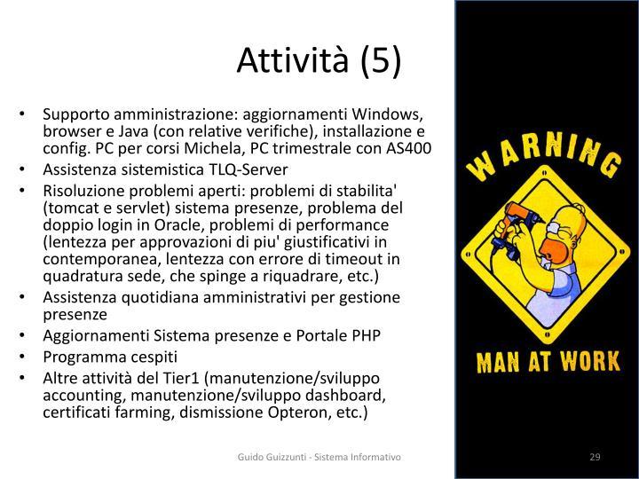 Attività (5)