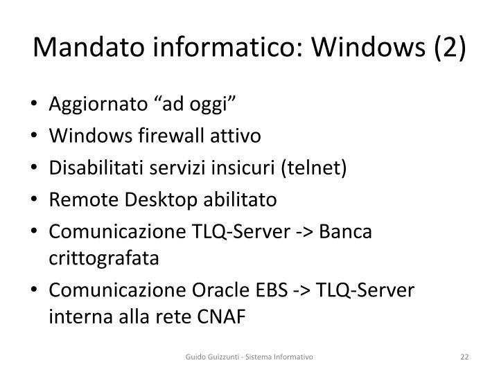 Mandato informatico: Windows (2)