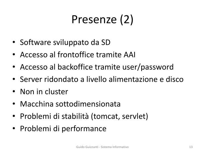 Presenze (2)