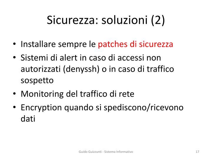 Sicurezza: soluzioni (2)