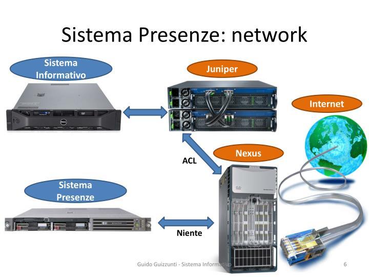 Sistema Presenze: network