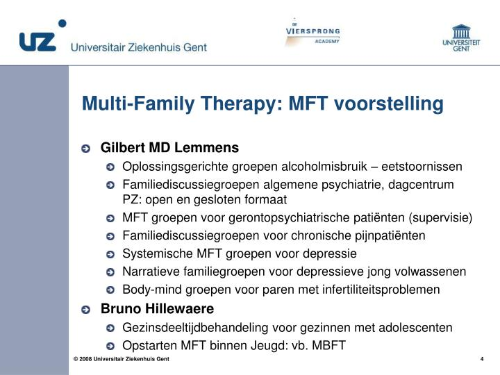 Multi-Family Therapy: MFT voorstelling