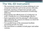 the val ed instrument