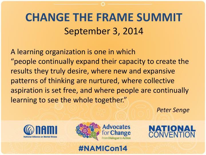 Change the frame summit september 3 2014