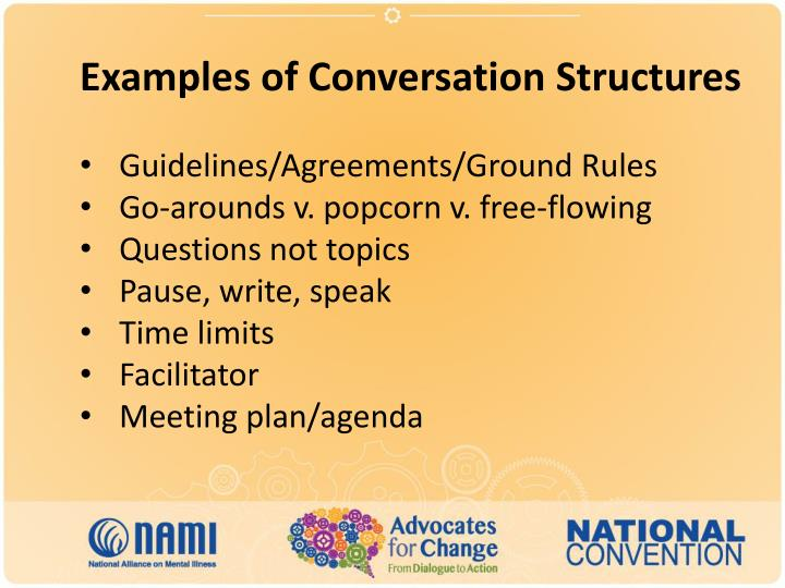 Examples of Conversation Structures