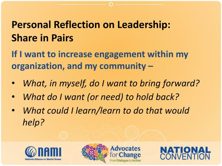Personal Reflection on Leadership: