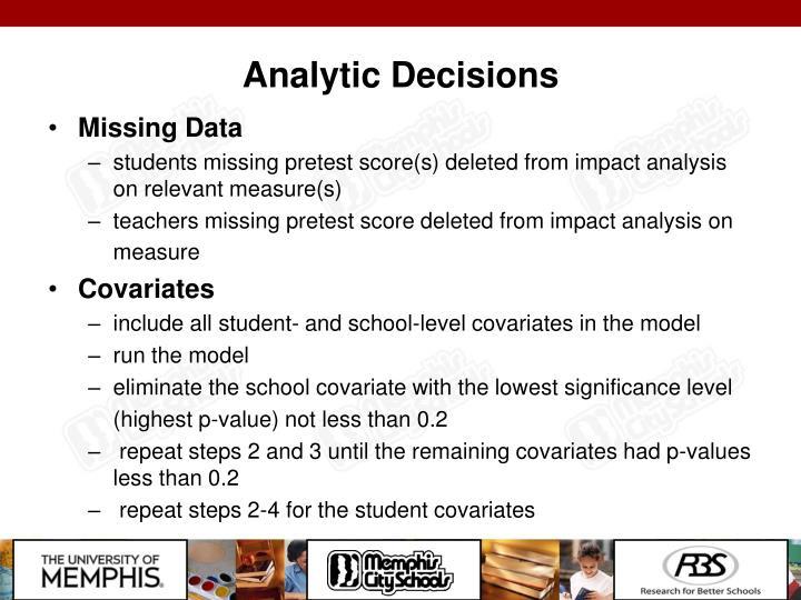 Analytic Decisions