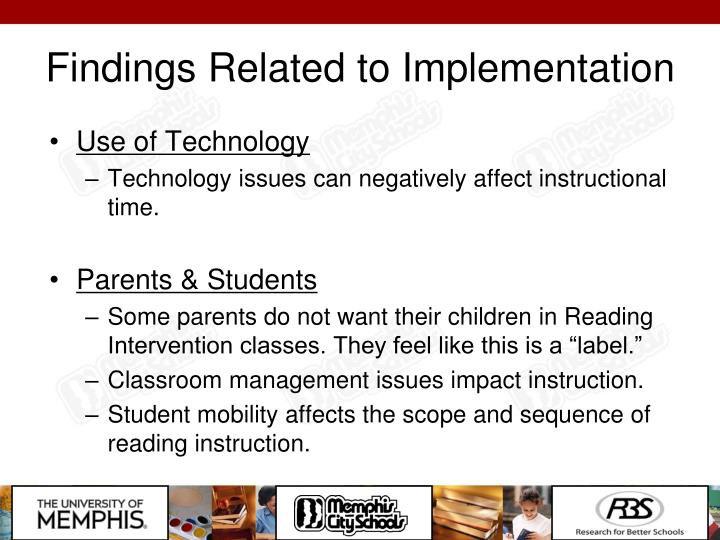 Findings Related to Implementation