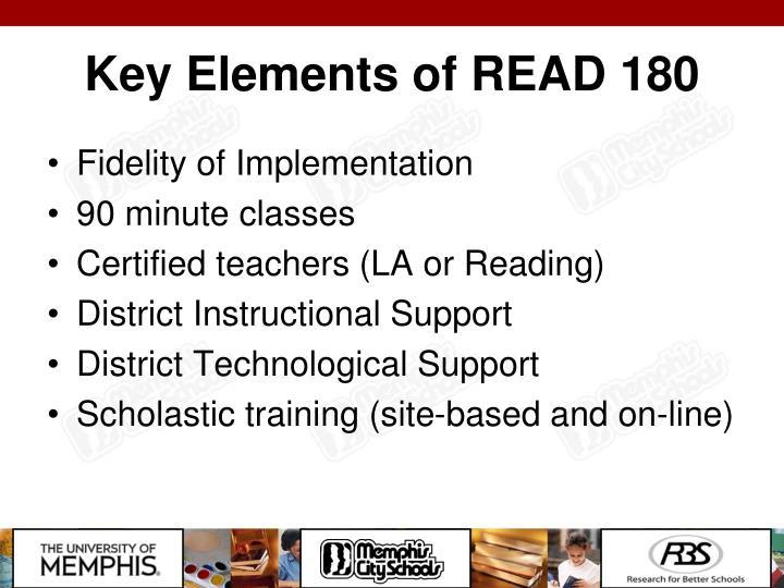 Key Elements of READ 180