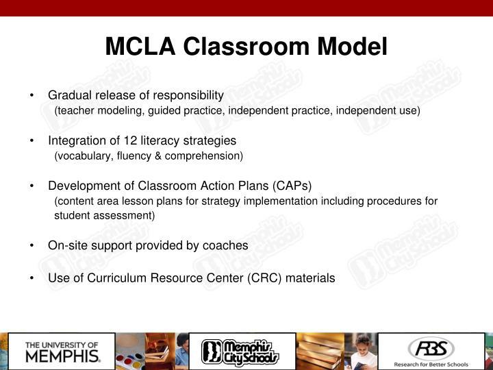 MCLA Classroom Model