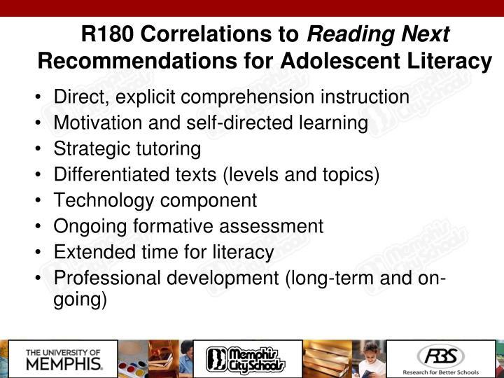 R180 Correlations to