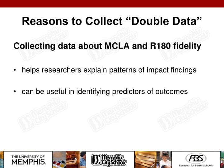 """Reasons to Collect """"Double Data"""""""