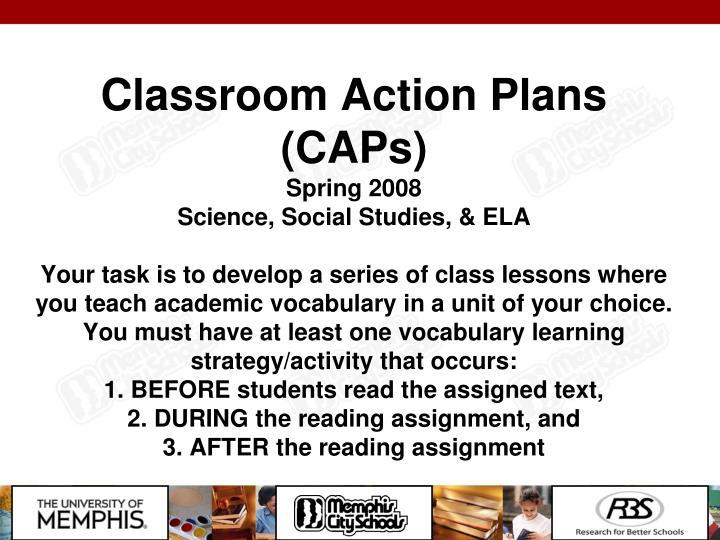Classroom Action Plans (CAPs)