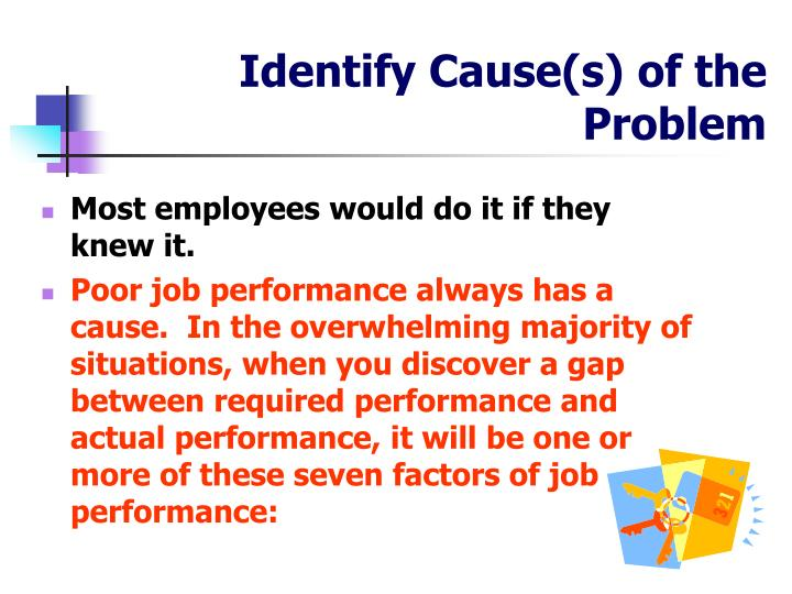 Identify Cause(s) of the Problem